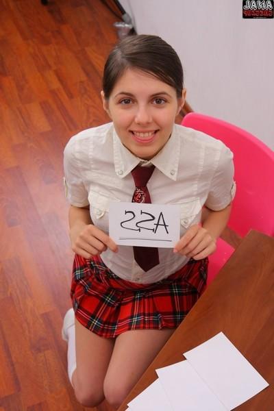 Spry teen natalia illarionova passes anal exam in classroom
