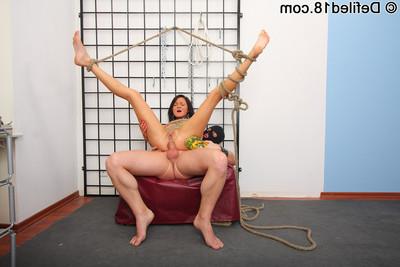 Teen slave babe united up and enjoying anal-fucking
