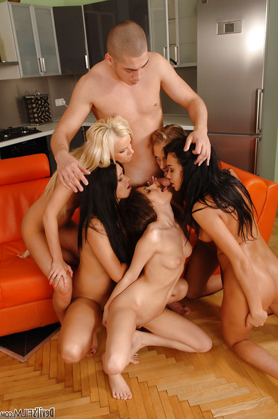 Seductive Juvenile lassies intact around a hardcore ass pounding with a fluky mate