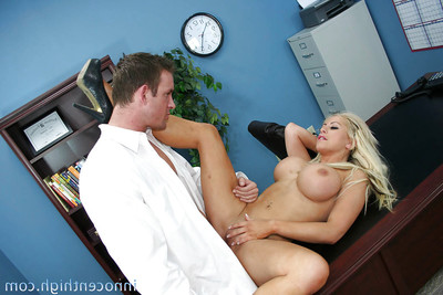 Schoolgirl adolescent Savanah gets an anal and love-cage fuck at the office