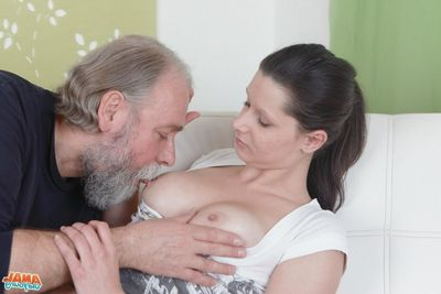 [Old Youthful Anal] She not in condition get flip life wanting in some rear gullet action,