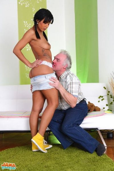 [Old Youthful Anal] Its a tip out winter day, and Kim is having problems getting he on tap