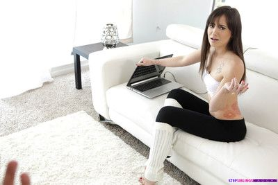 Gia paige gets throw a spanner into the works observing porn hard by her stepbrother and has t