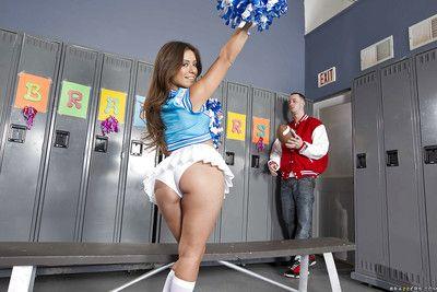 Sexy cheerleader Jynx Maze got her ripe latin plunder banged hardcore