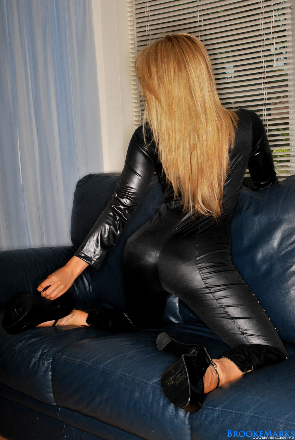 Brooke marks in a catwoman clothing