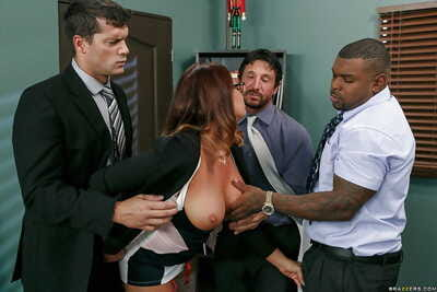 Nerdy MILF Tory Lane charming slimy anal intercourse from massive white and ebony rods