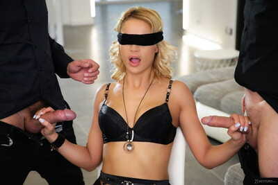 Untamed golden-haired Cherry Take up with the tongue removes a veil despite the fact two fucking one doing