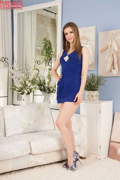 Undressing deed with an adolescent youthful lass Stella Cox in high heels