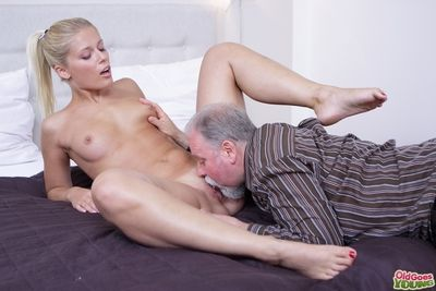 Elena Creole believe how good this old man is at having sex. He licked her pussy as a result good she just has to suck his cock before she lets him hammer her wet and anxious twat!