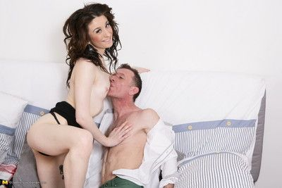 Hot british young babe doing a dirty dad