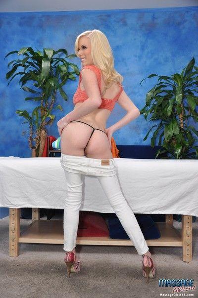 Sexy elaina fucks and sucks her massage therapist