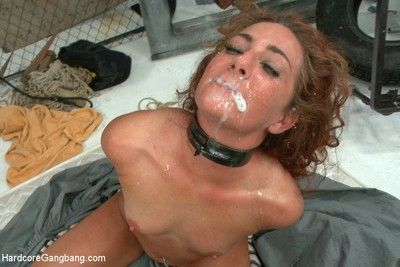 Double anal and busty hot red head taken down in a naff squirt fest