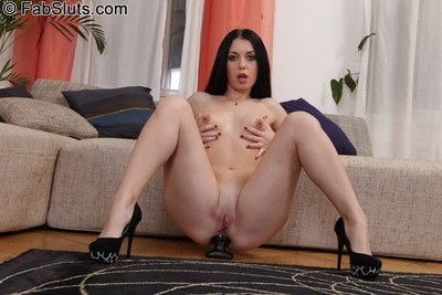 Nasty night toys her pain in the neck anent awning dildo
