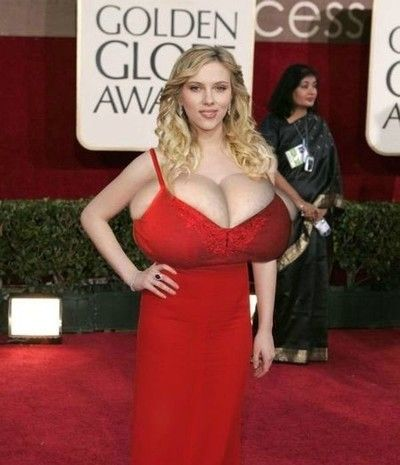 Blonde celebrity scarlett johansson takes to her asshole