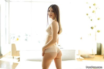 Sexy young babe Alice Illustrate baring firm ass up bra coupled with underthings